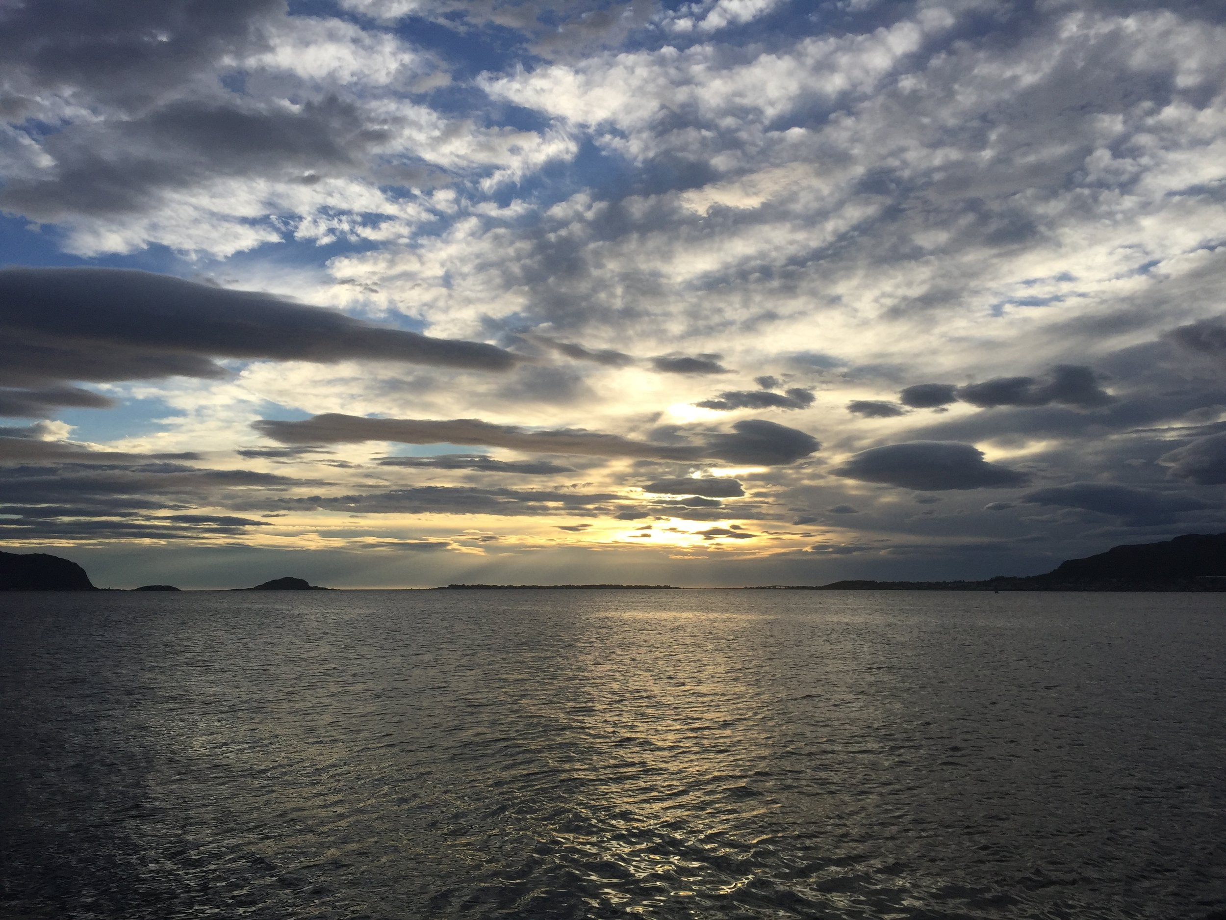 """""""Sunset"""" at Ålesund, Norway."""