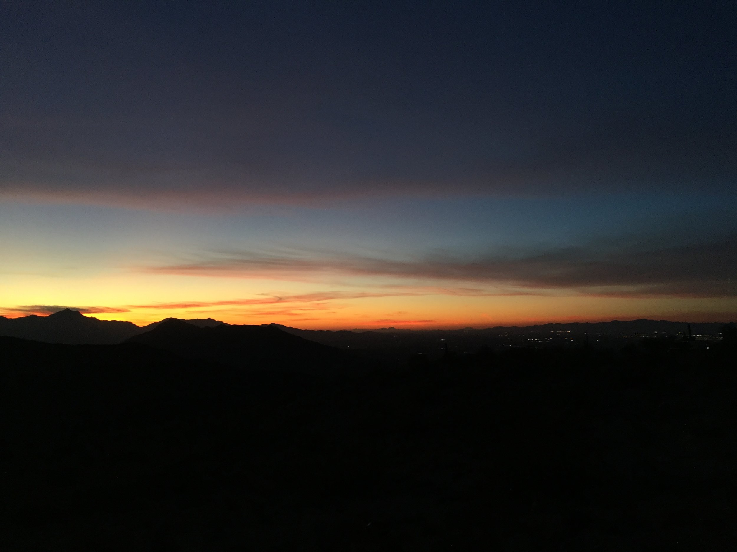 South Mountain Sunset: The End