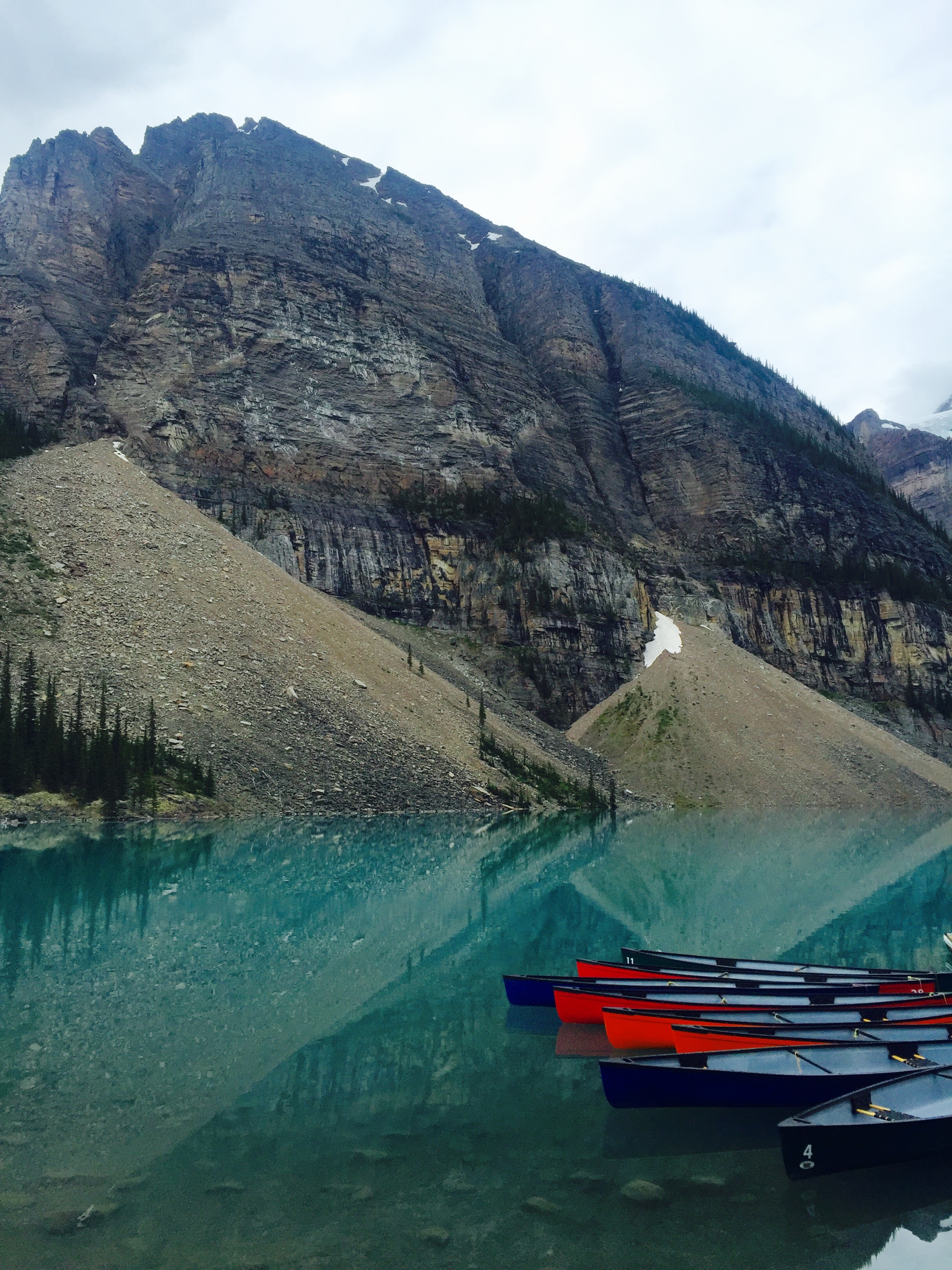 Lake Moraine, where the Larch Valley trailhead begins.