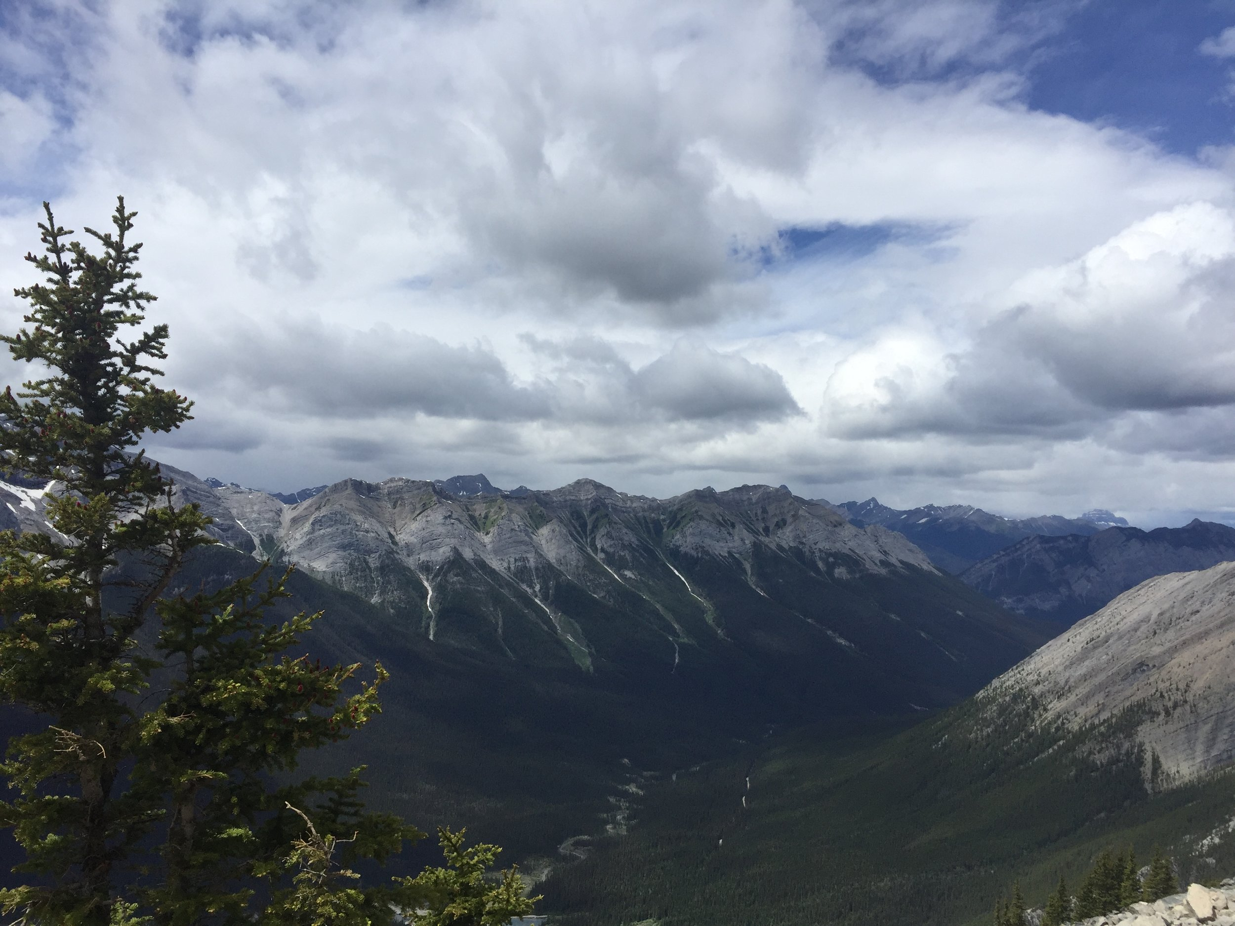 Views from trail to Ha Ling Peak in Kananaskis Country