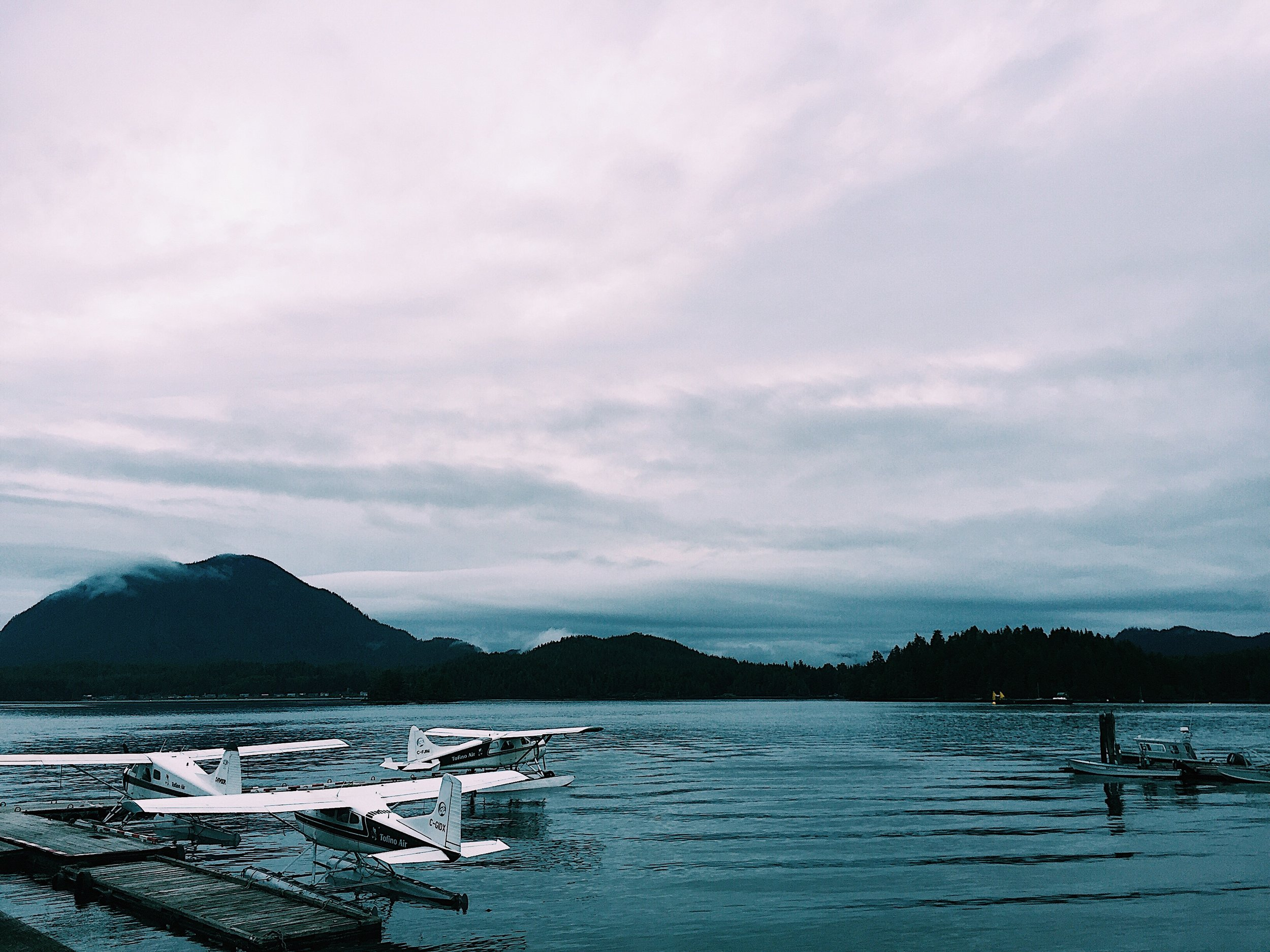 View of Clayoquot Sound from Tofino.