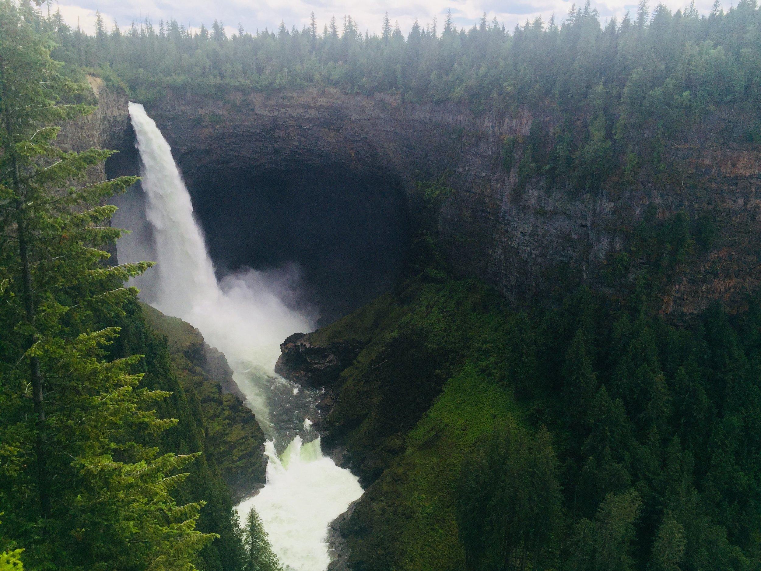 Helmckn Falls in Wells Gray Provincial Park