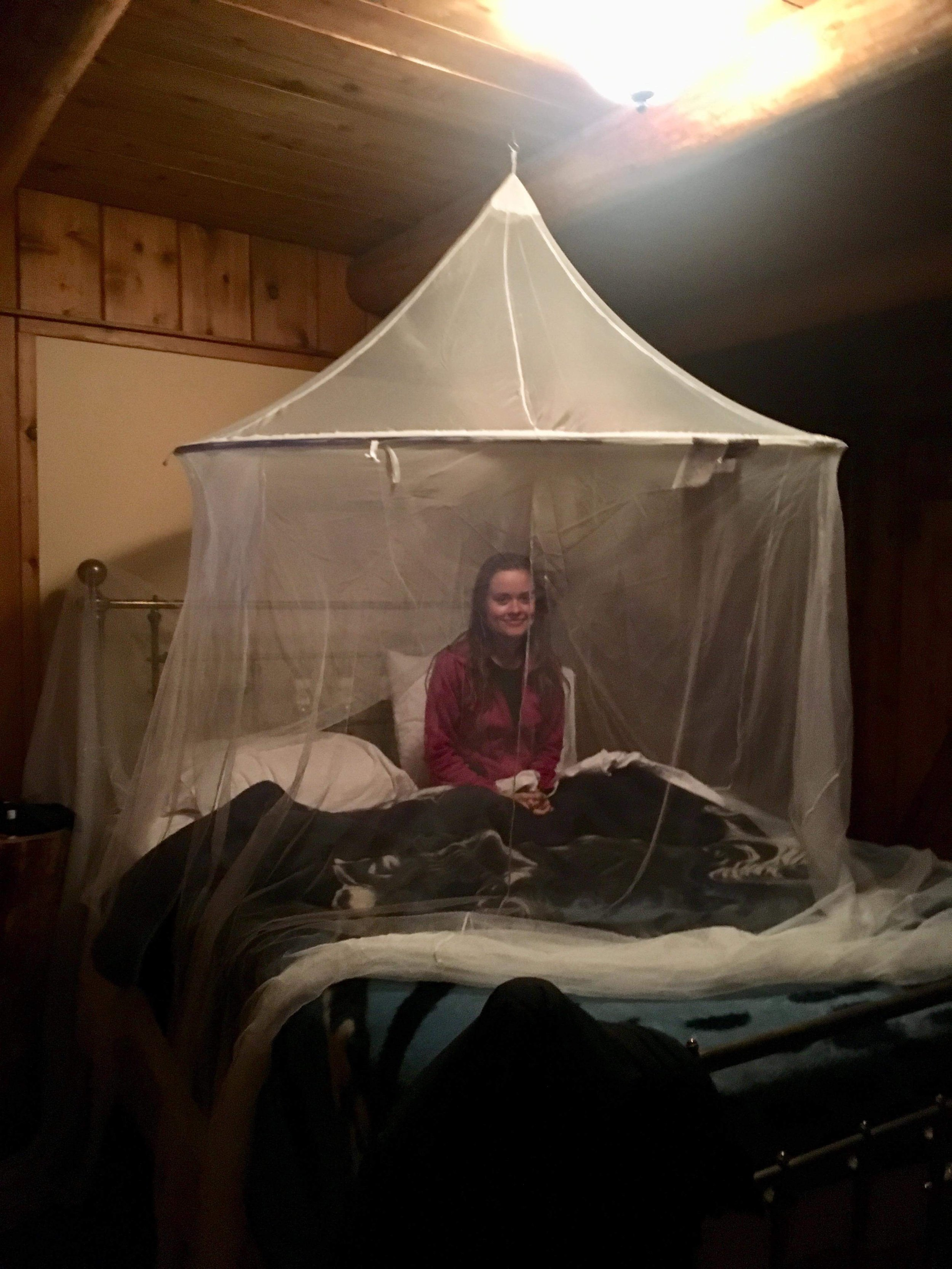 We didn't use the mosquito net the first night and we regretted it :)