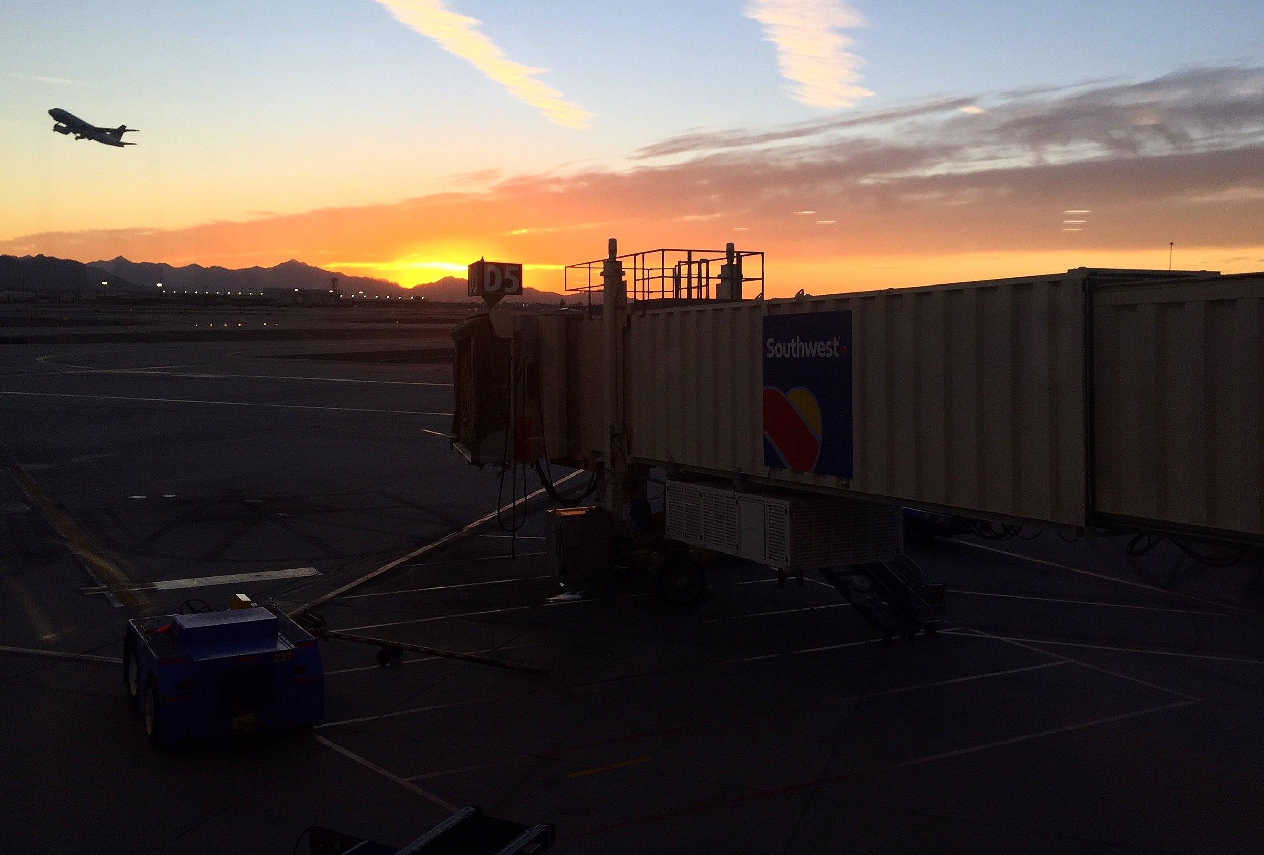 Sunset at Phoenix Sky Harbor