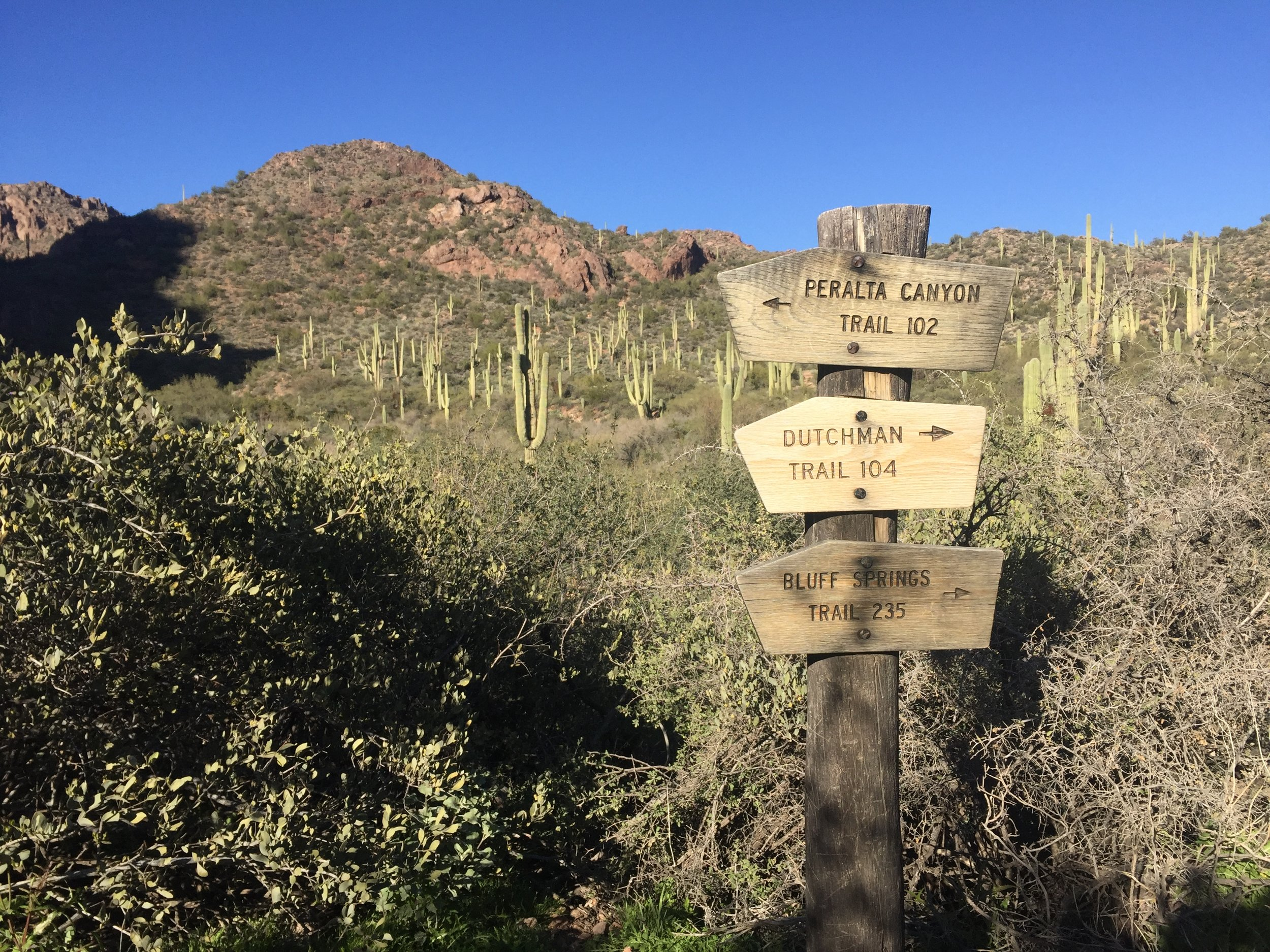 Peralta Canyon Trailhead