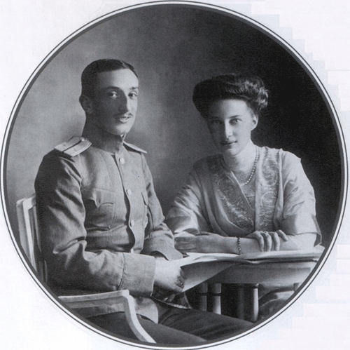 Prince Constantin Bagration-Moukhransky and his wife, née Princess Tatiana of Russia