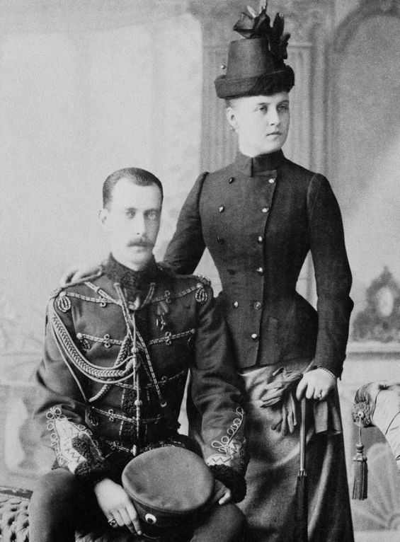 Grand Duke Paul and his first wife, Grand Duchess Alexandra Georgievna, born a princess of Greece.