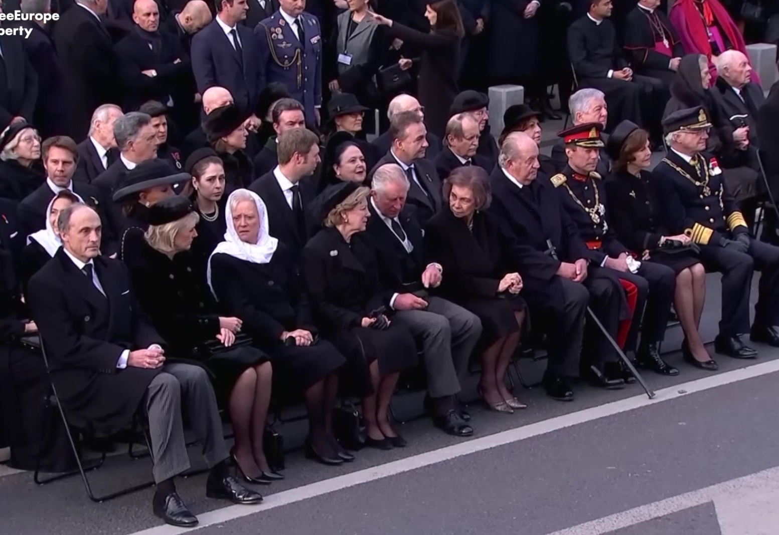 The Royal Guests at the funeral of HM King Michael of Romania,