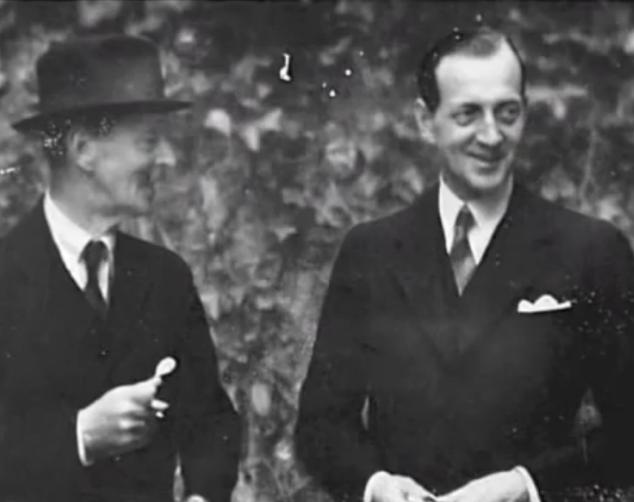 Grand Duke Dmitri Pavlovich at right, with Grand Duke Kirill Vladimirovich