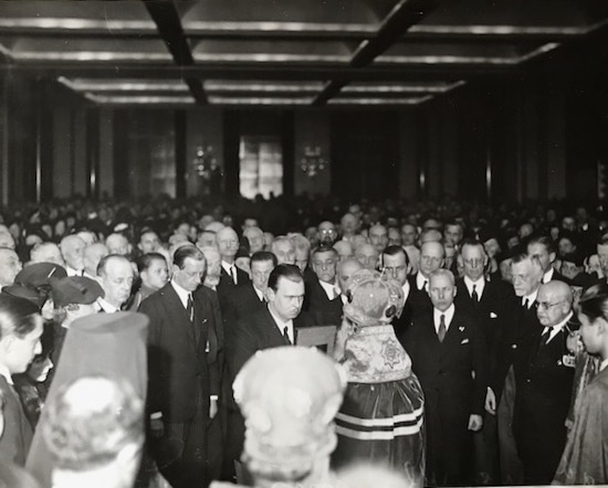 Grand Duke Wladimir Kirillovich on his accession to the headship of the Imperial House in the presence of the Union des Nobles, Paris, 1938. Note Grand Duke Dmitri directly behind Emperor-in-Exile Wladimir.