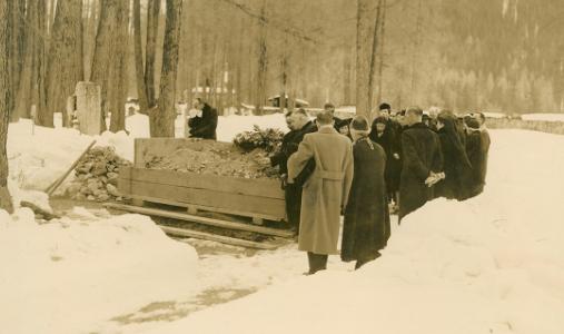 The funeral of Grand Duke Dmitri, Switzerland, 1942.