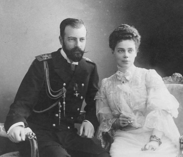 Grand Duke Alexander and Grand Duchess Kenia, St. Peterburg, 1890's.