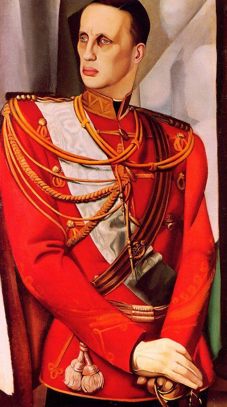 Portrait of Grand Duke Gavriil Constantinovich by artist Tamara de Lempicka.
