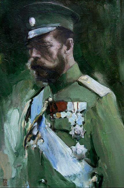 Emperor Nicholas II, Vladimir Kirillovich, 2014. Oil on Canvas. (Visit vkirillov.com)