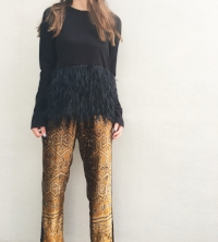 Giada Forte patterned gold joggers
