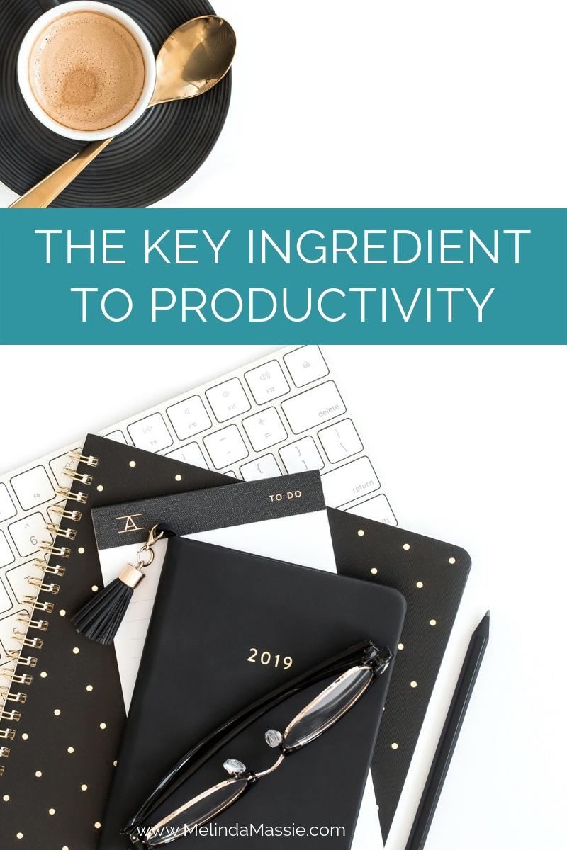 The Key Ingredient to Productivity - Melinda Massie blog