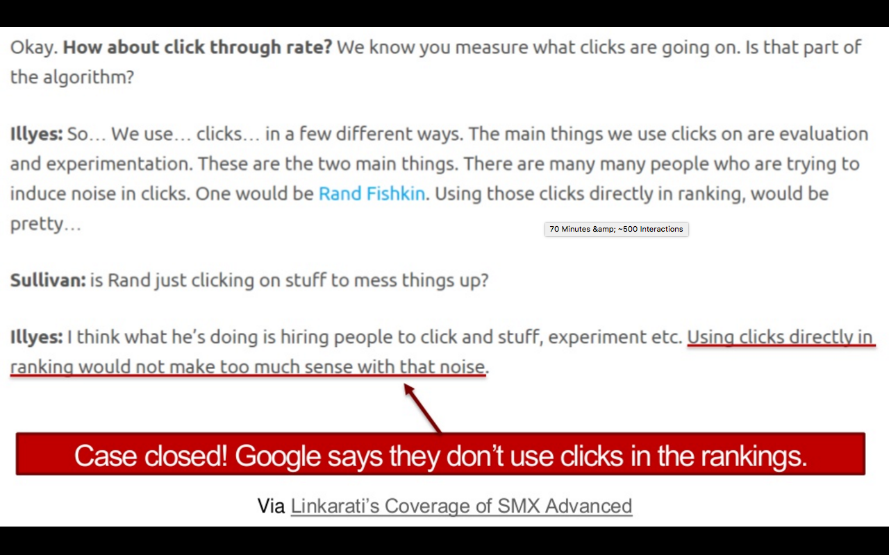 SEO in a Two Algorithm World by Rand Fishkin