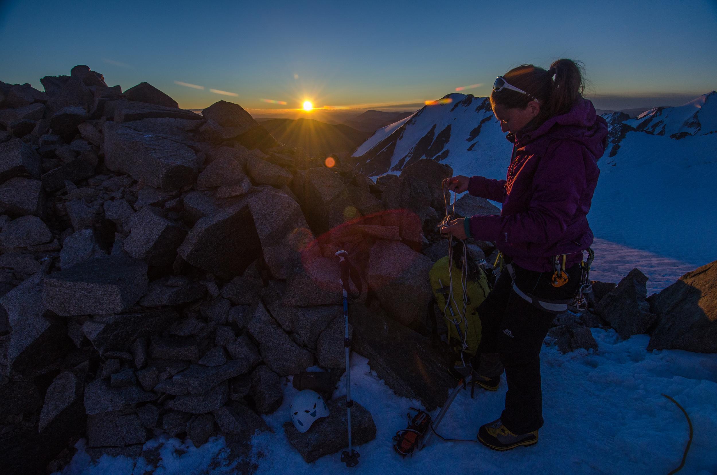 Alpine start to head for the summit