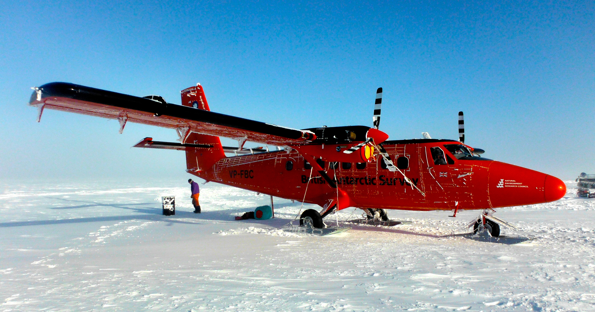 The twin otter is the backbone of Antarctic field work, it has an incredible load capacity for an aircraft of it's size and can land almost anywhere!