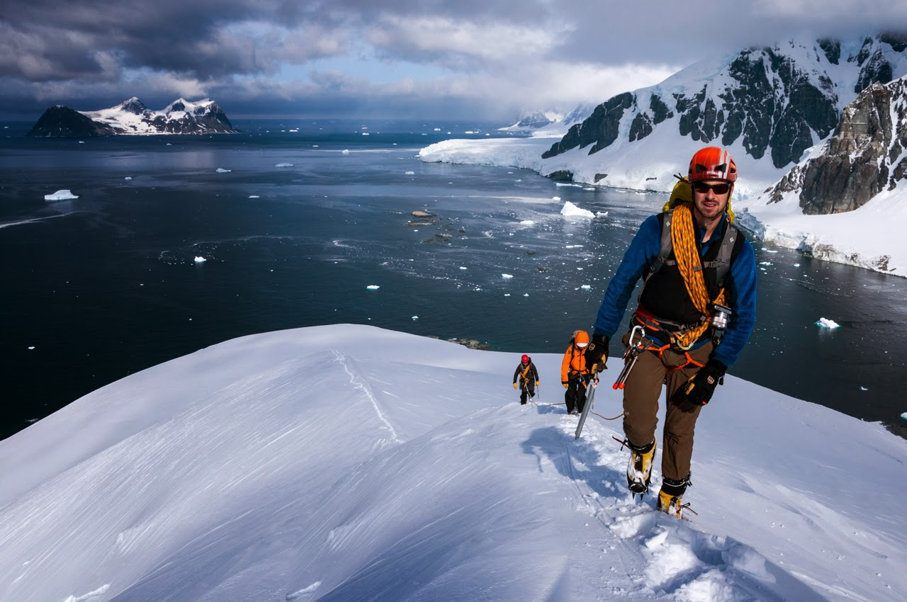 Mountaineering on Leonie Island (Photo: Cheese Rudkin)
