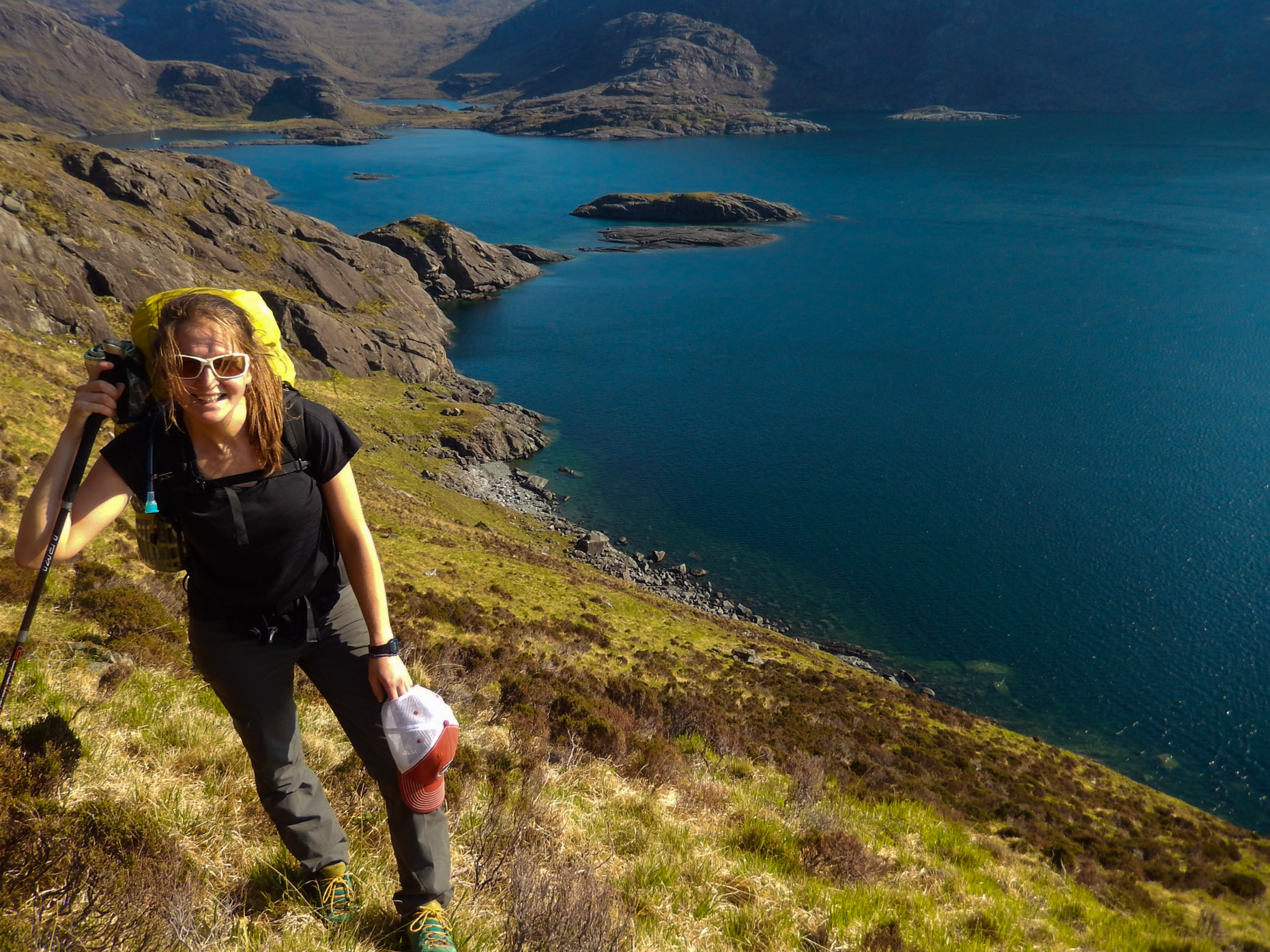 Fresh off the boat at the foot of Gars-bheinn