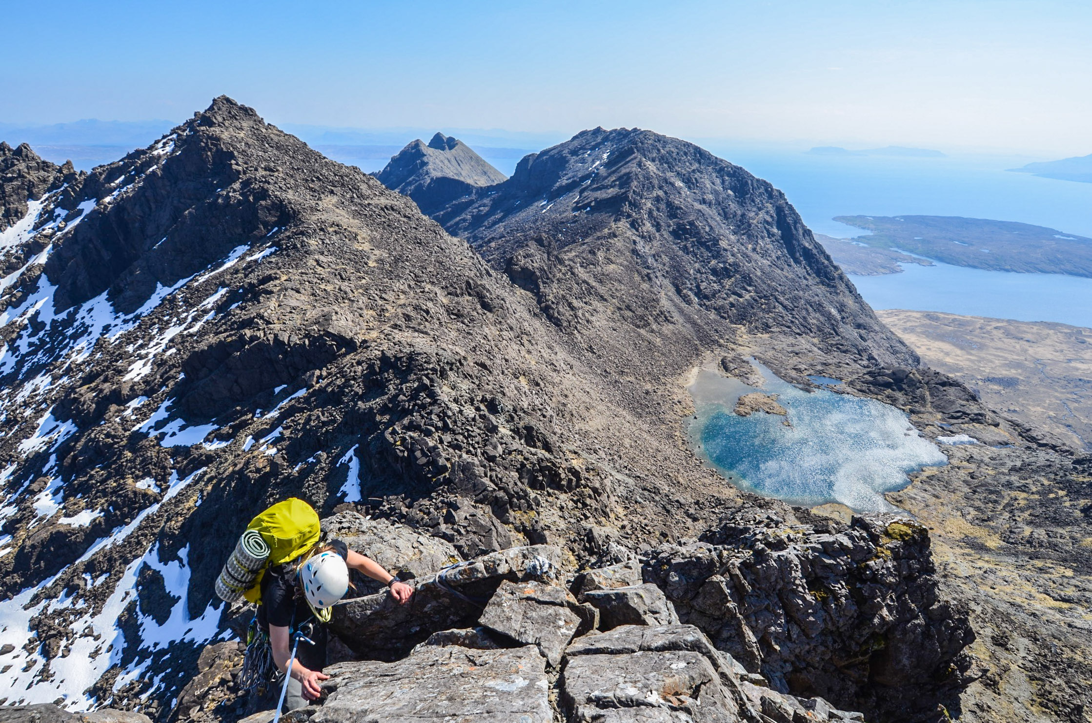 Mairi topping out on the notorious TD Gap