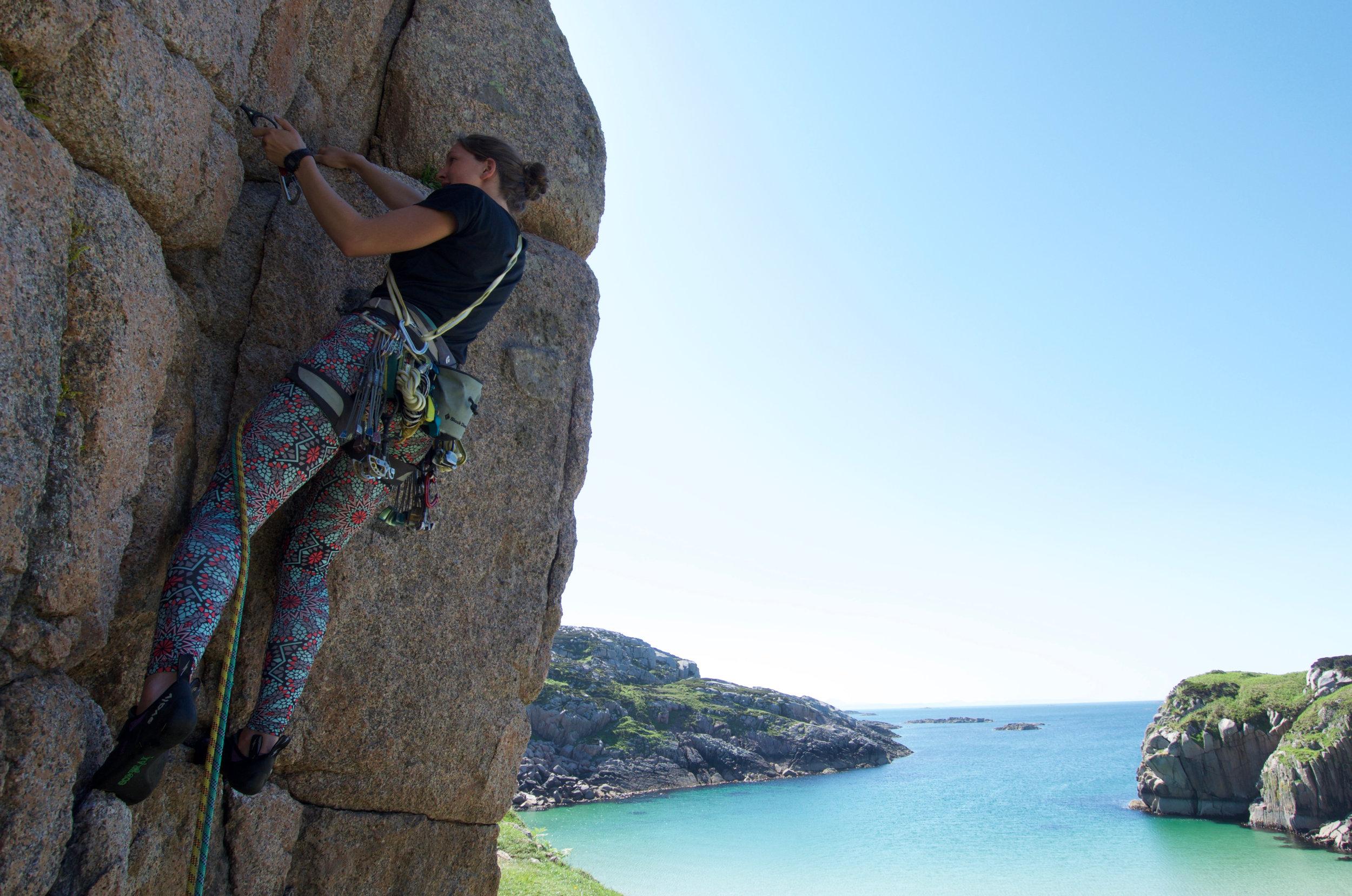Mairi rocking the 80s climbing leggings!