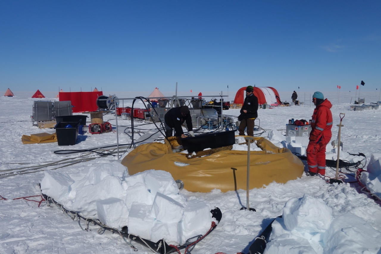 10 tons of snow required to fill this flubber before drilling can start!