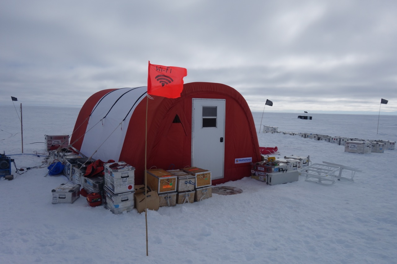 Work/living tent with satellite wifi!