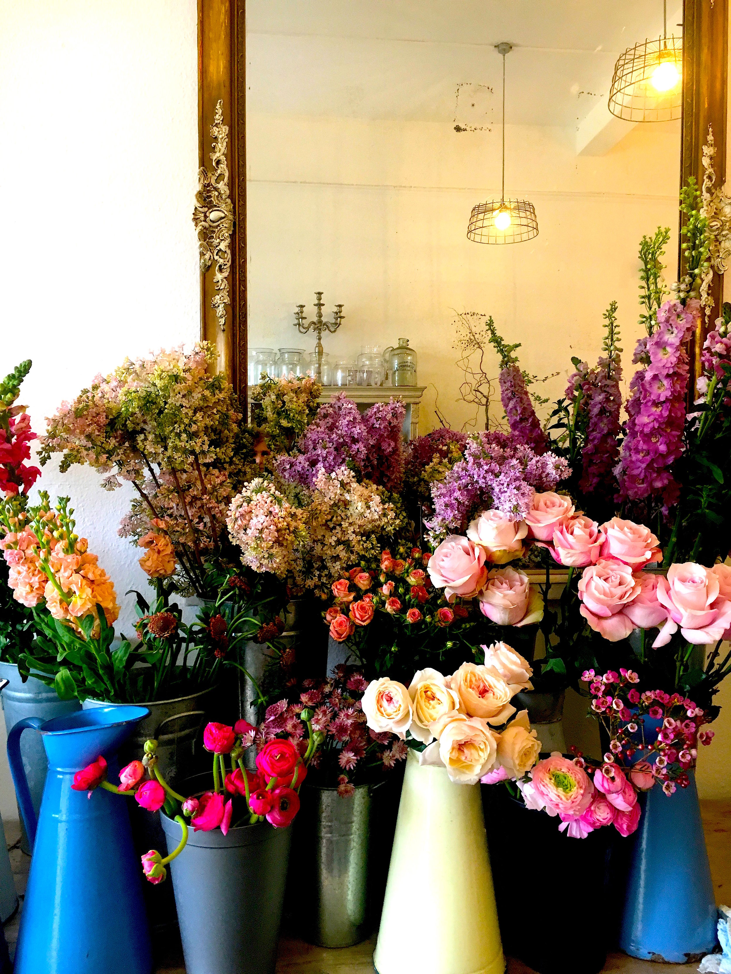 Tones of pink at The Blue Lavender in Barnes Village