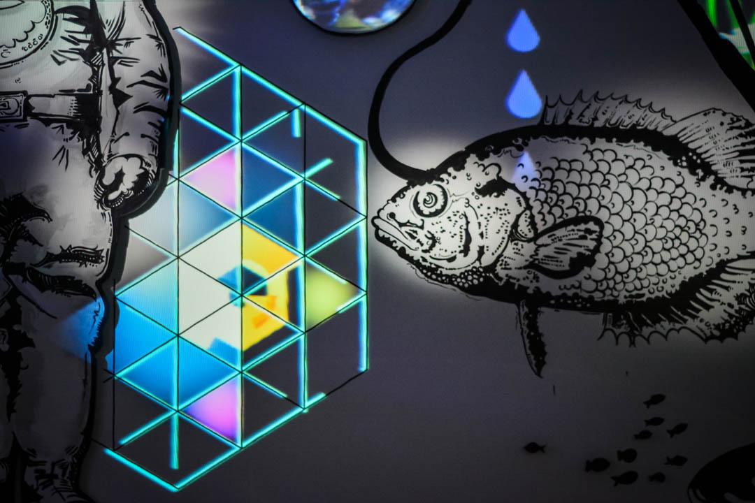 """Fish"" installation @ Crosstown Arts 2016"