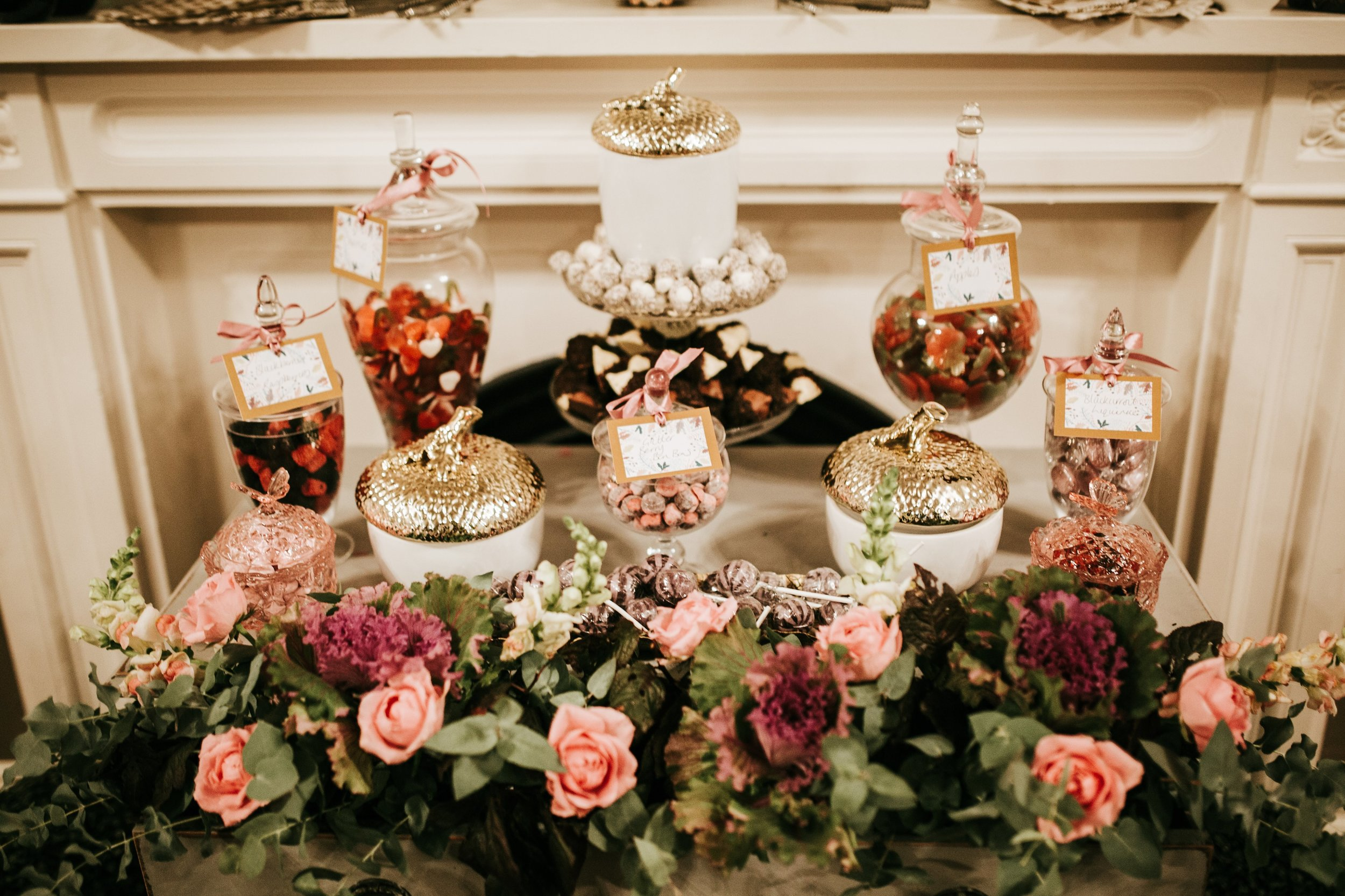Sweetie Table apothecary jars