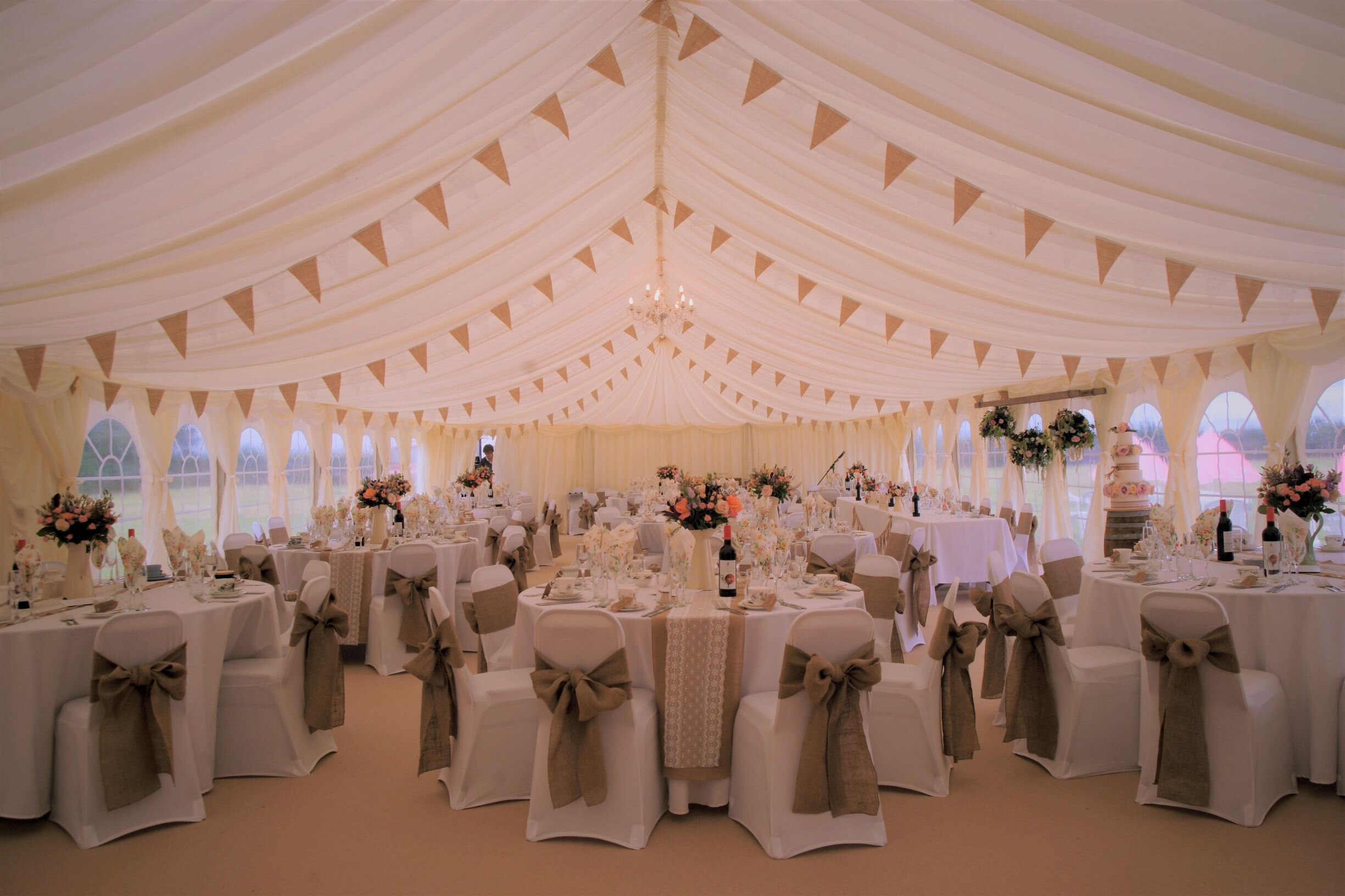 Marquee Reception - Marquee in the grounds of their family home.Photography : Ruby Adds