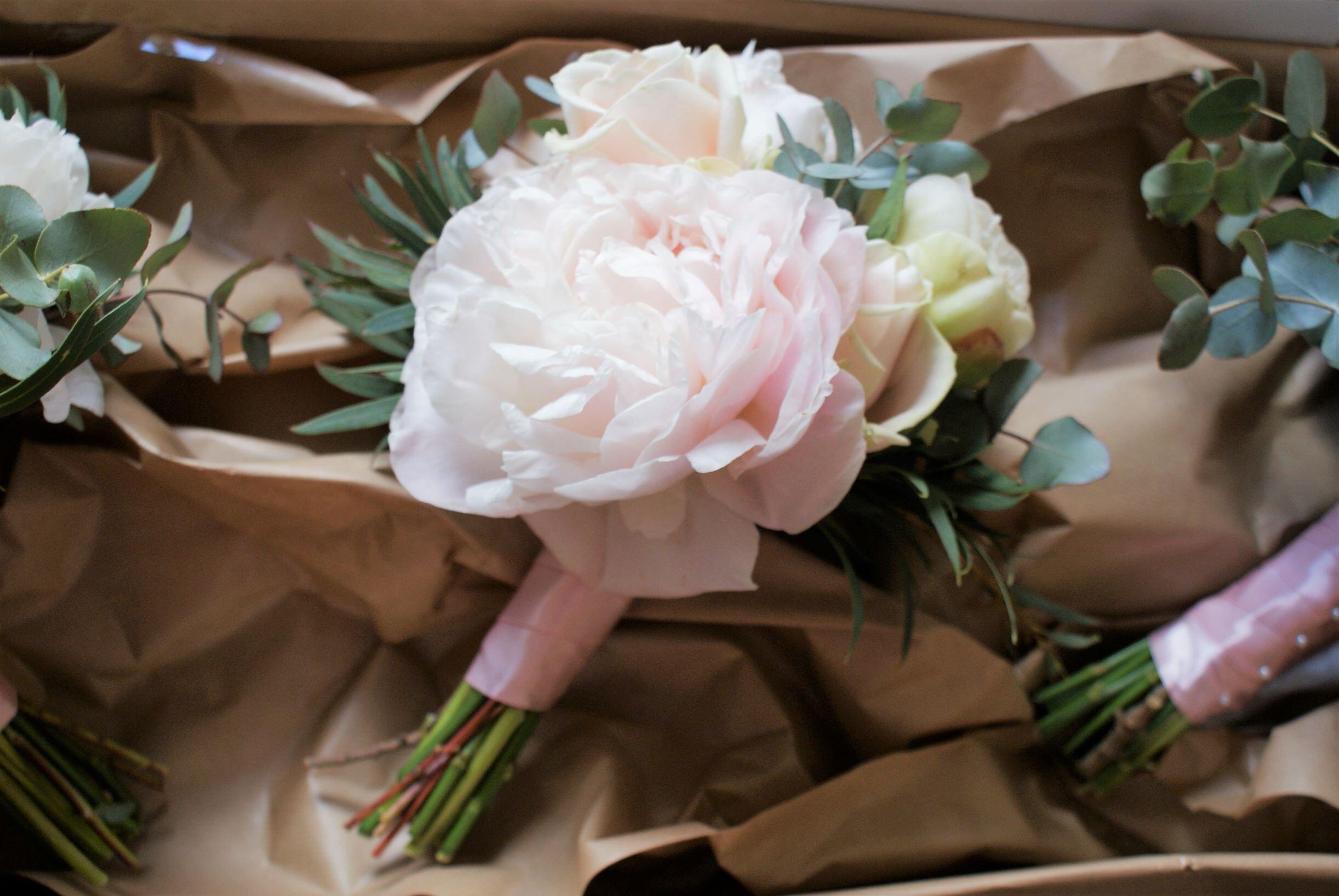 Bridesmaid posie Peonies.jpg
