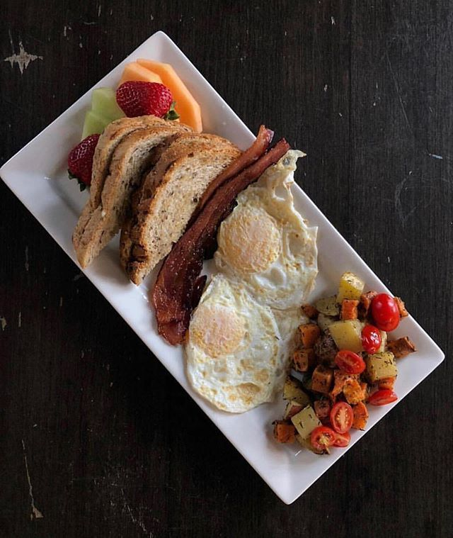 Good morning, we're open from 9 - 6, serving brunch until noon.  Today is the last day to enjoy 5 varieties of Caesars at $5/each starting at 11:00 a.m.  See you soon!