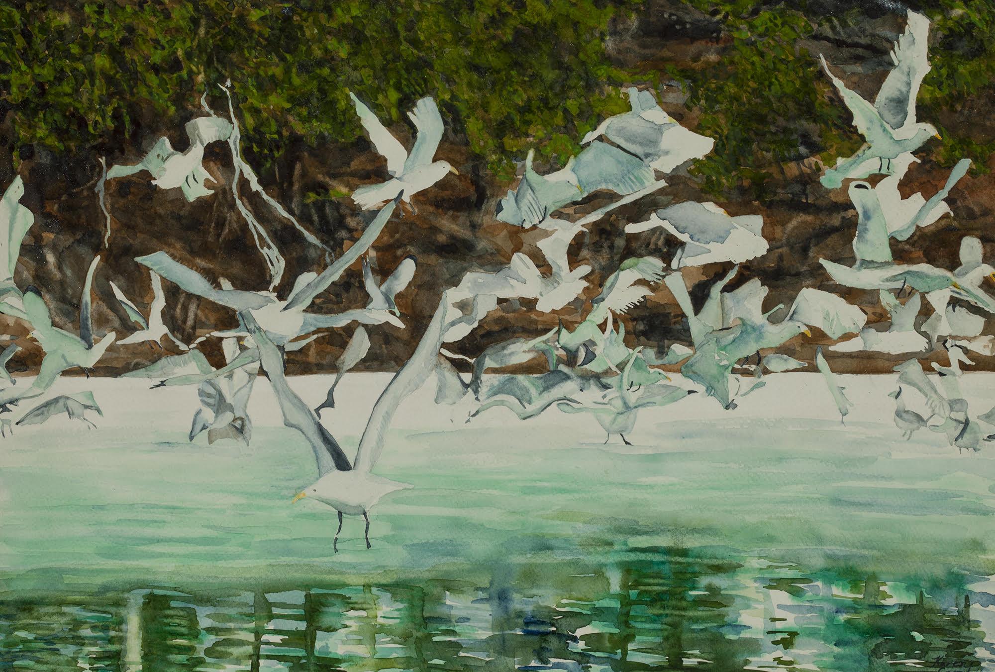 Seagull Menagerie - Original Watercolor