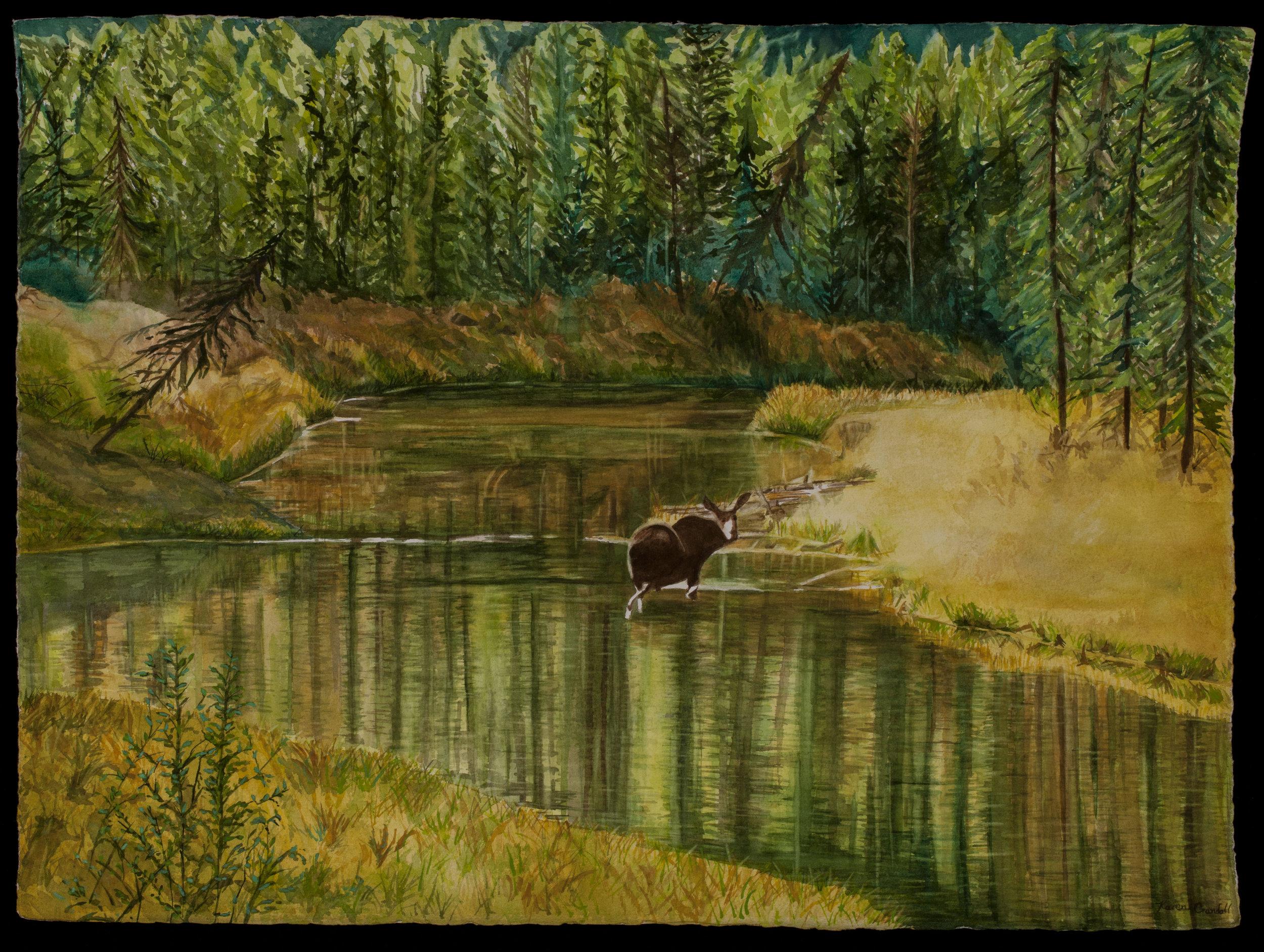 Serene Autumn - Watercolor Giclee
