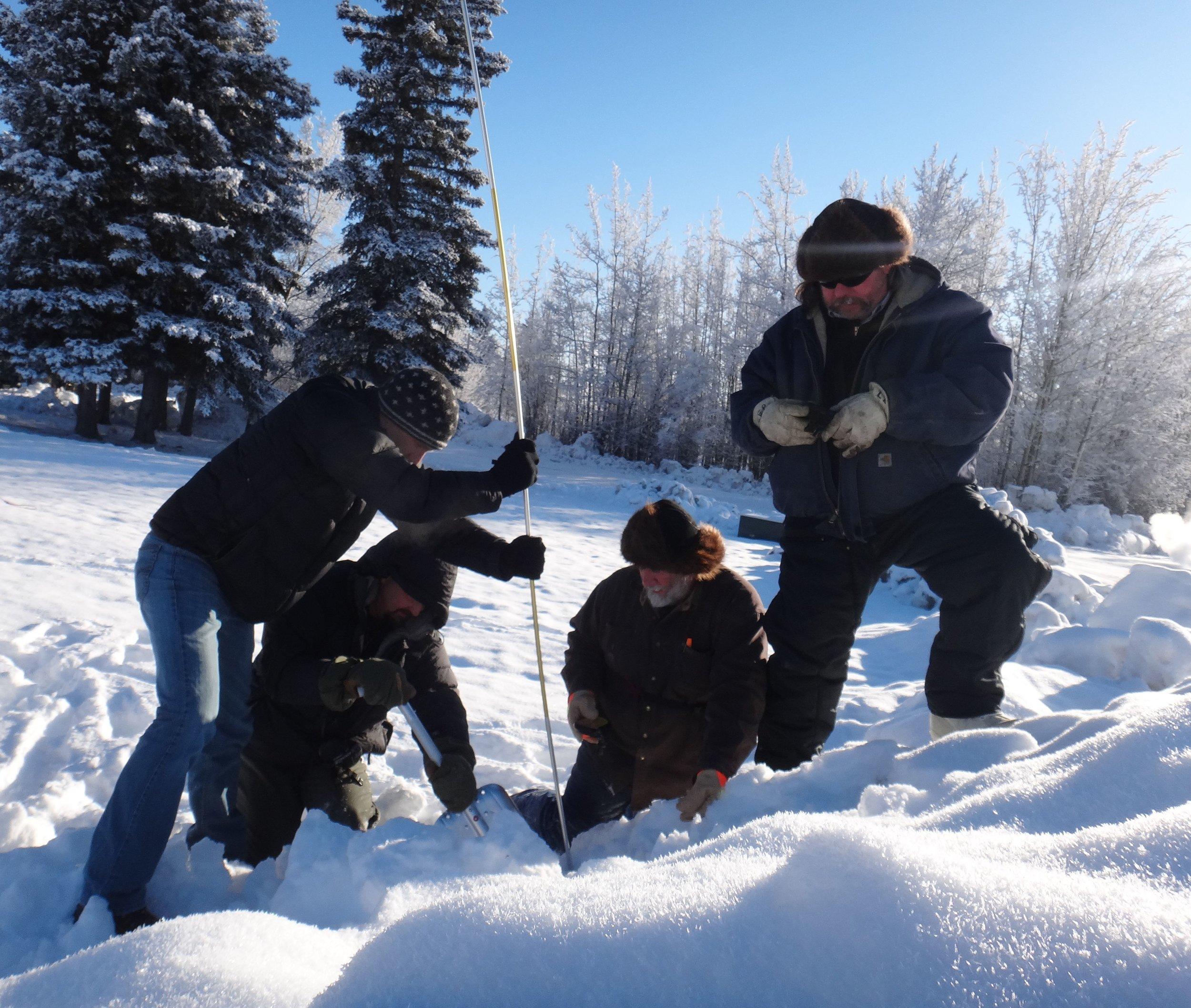 Glennallen crew practicing companion rescue. Photo by S. Carter.