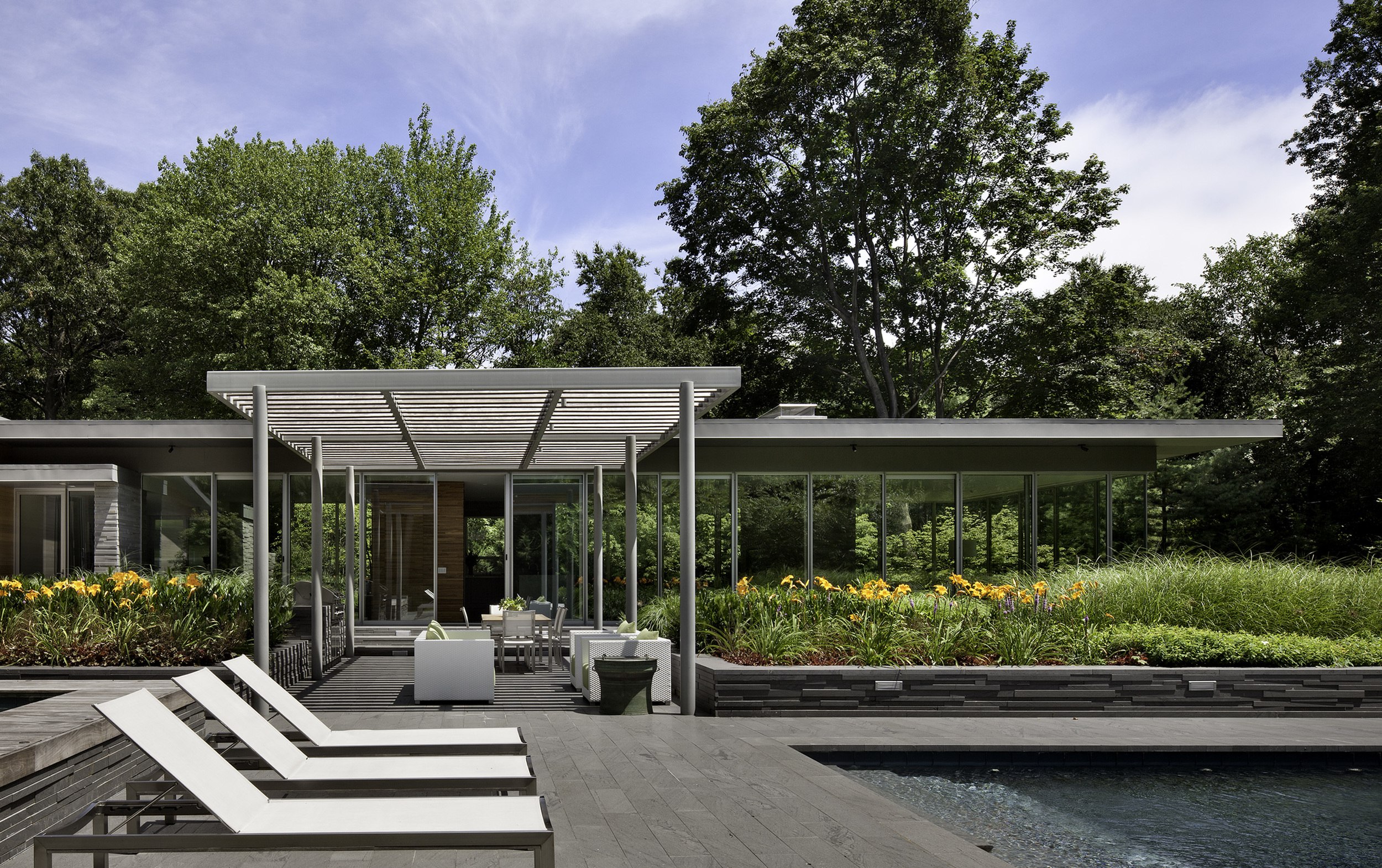Pavilion, Pergola, Gardens, and Pool