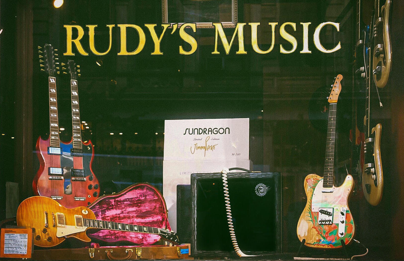 Rudy's Music display