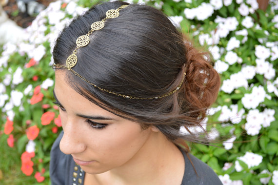 FREETOBEbyJessica Gold Filigree Head Jewelry , $30