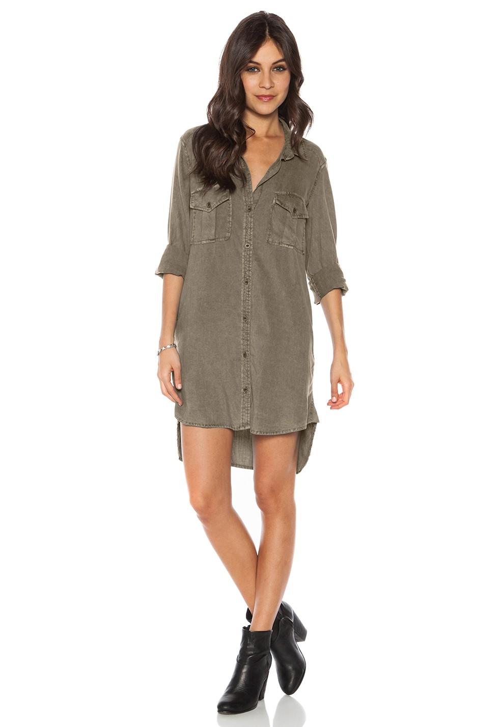 Bella Dahl Long Sleeve Utility Shirt Dress.jpg