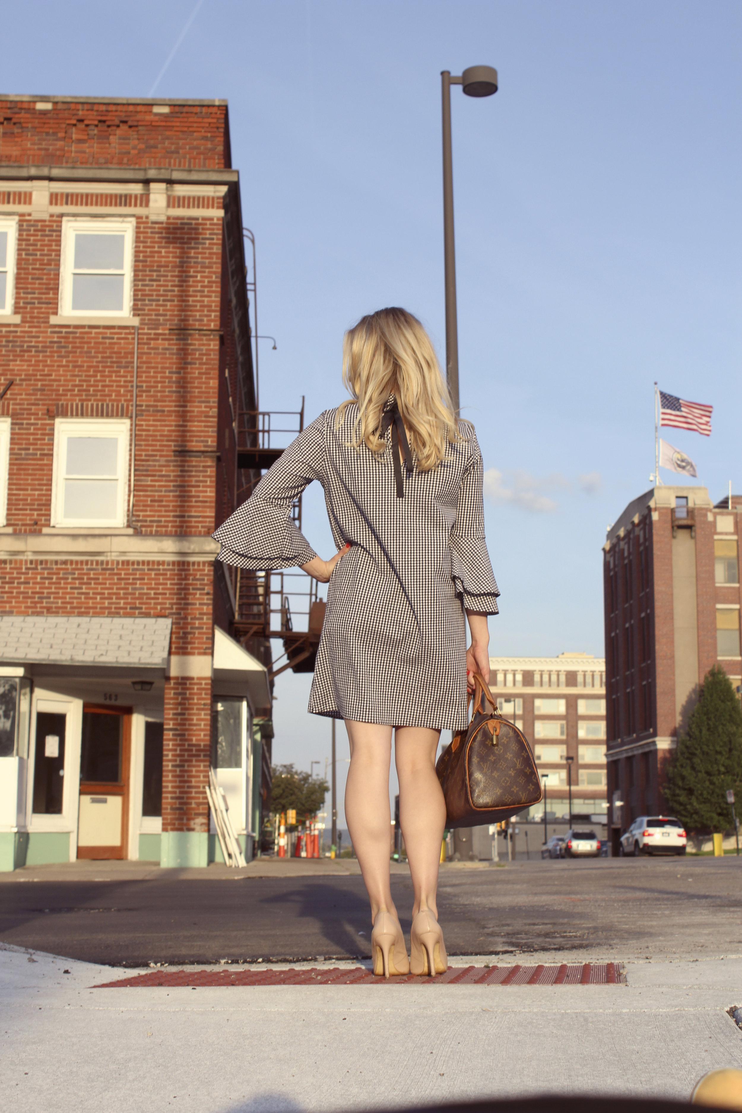 Carrielle Rose Fashion & Beauty Blog | Babydoll Gingham Dress