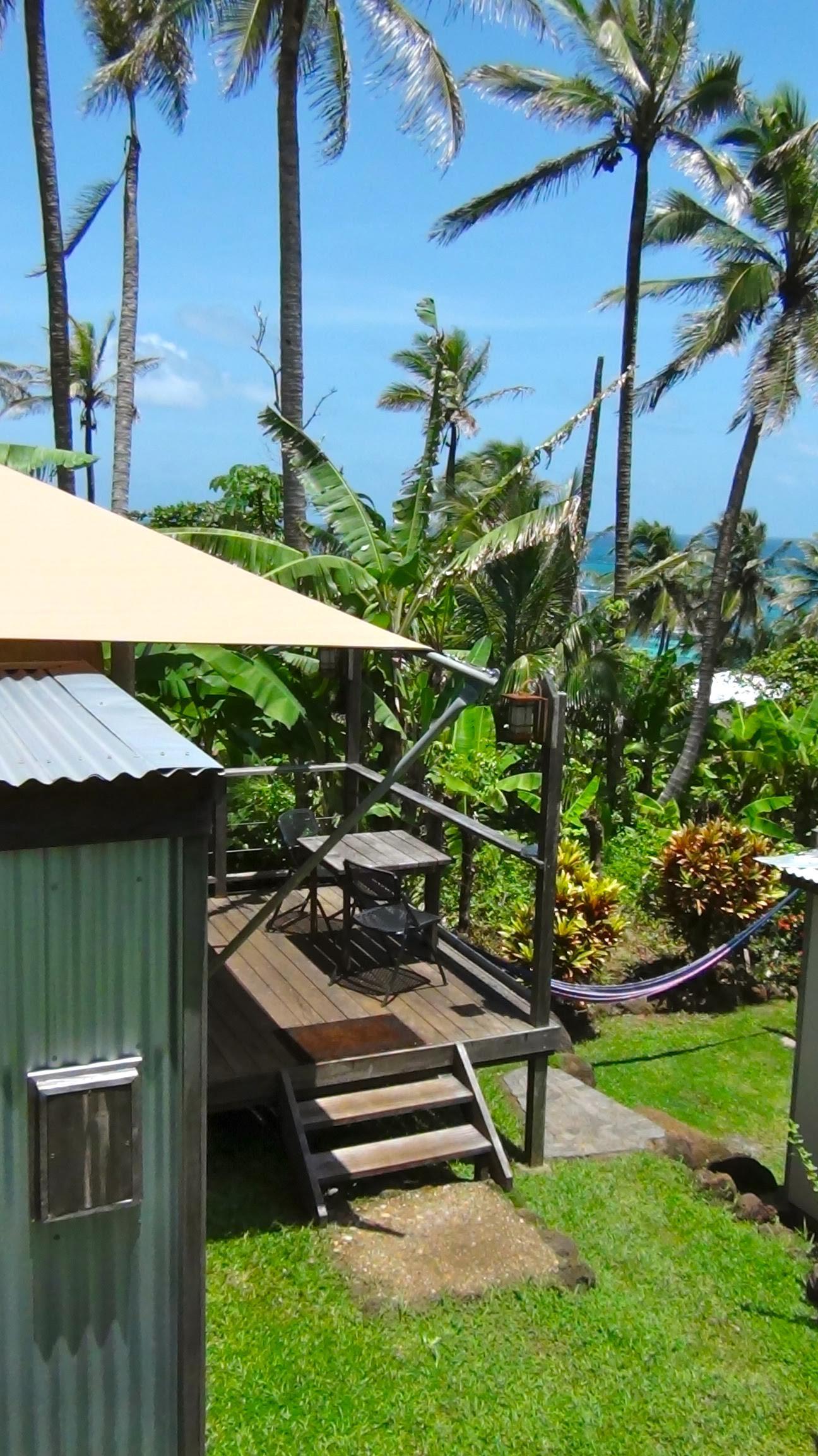 Los Escapados Eco-Cabin 2 private deck view