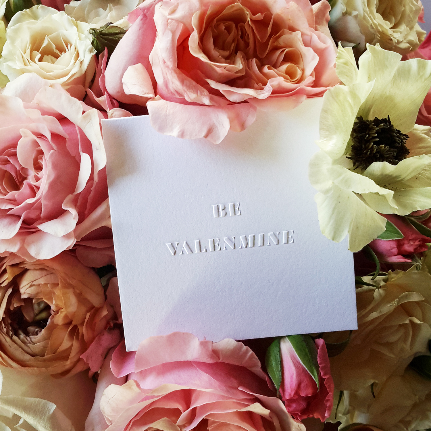 """Our """"VALENMINE"""" poco nestled in a bed of flowers by Dallas' GRO Floral and Event Design ."""