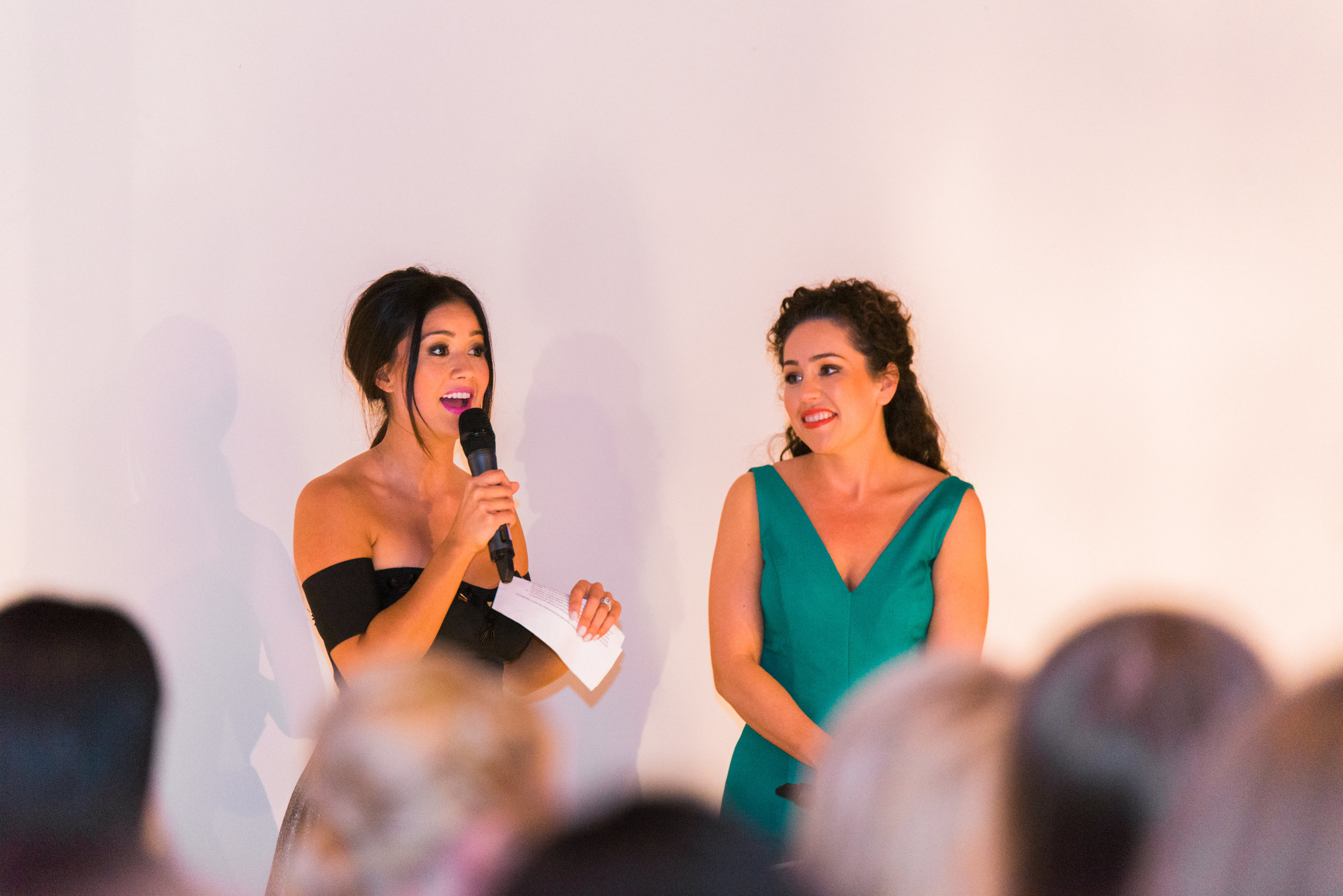 Catherine Lowe and Kat Armstrong hosting 2015's Polish Fashion Show at Lofty Spaces.