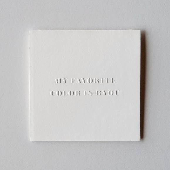 Our BYOU poco card ($5).
