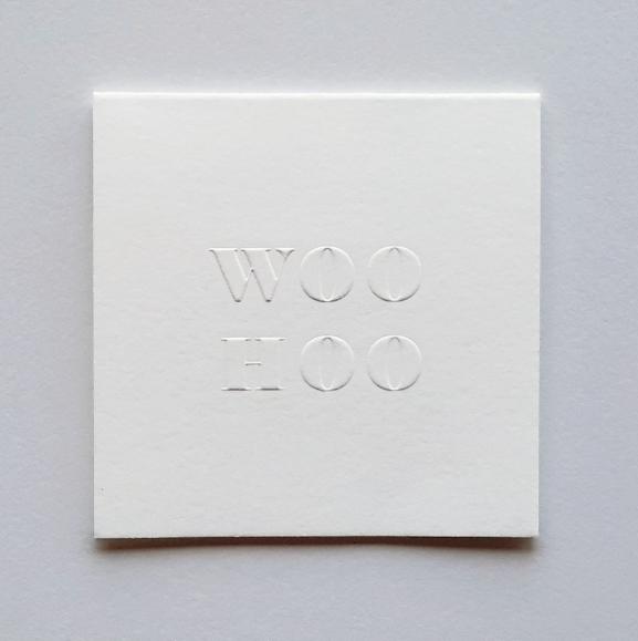 Our WOOHOO poco card ($5).