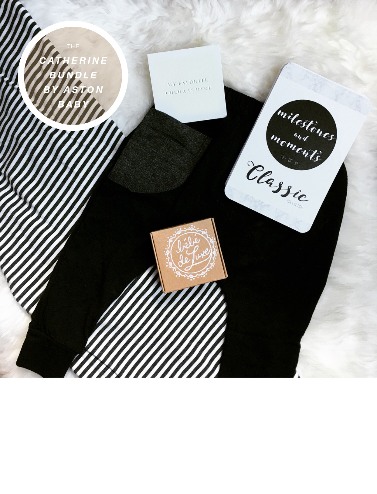 The Monochrome Baby Gift Bundle by Aston Baby was curated by our Catherine Lowe with favorites for her Samuel.