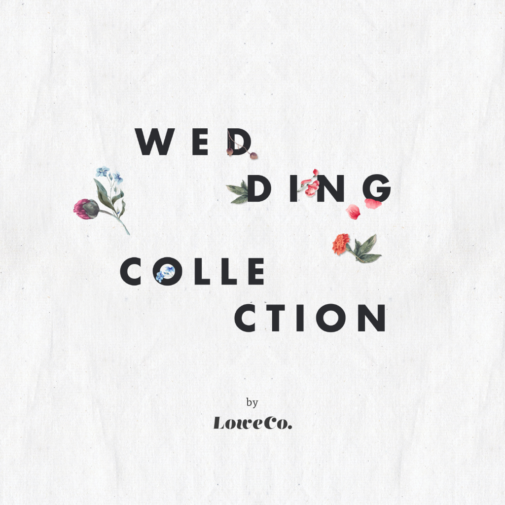 """Our Wedding Collection offers """"something new."""" We wanted to make this collection extra special, so we are highlighting our signature sweet and sassy messages with rose-gold foil. Image art by Magdiel Lopez."""